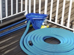 Photo of  set of pool cleaning supplies